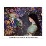 Retrato de Violette Heymann de Bertrand-Jean Redon Tarjeta Postal