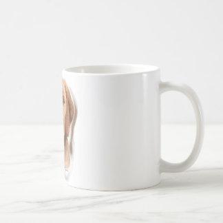 Retrato de Viszla Taza Básica Blanca