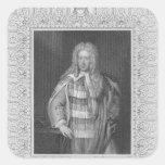 Retrato de vizconde Bolingbroke de Henry St. John Pegatina Cuadrada