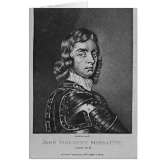 Retrato de vizconde Mordaunt de Juan Tarjeta De Felicitación