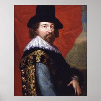 Retrato de vizconde St Alban de sir Francis Bacon Impresiones