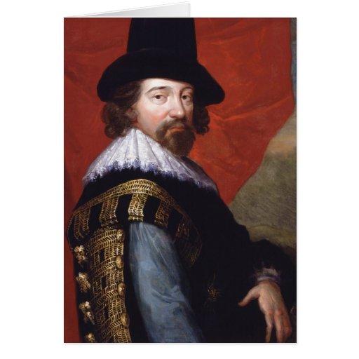 Retrato de vizconde St Alban de sir Francis Bacon Tarjeta De Felicitación