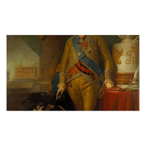 Retrato de Vladimir Borovikovsky- de la cuenta Kur Tarjetas De Visita