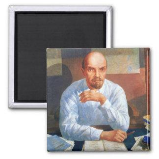 Retrato de Vladimir Ilyich Lenin, 1934 Imán Cuadrado