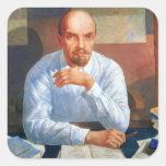 Retrato de Vladimir Ilyich Lenin, 1934 Calcomanías Cuadradases