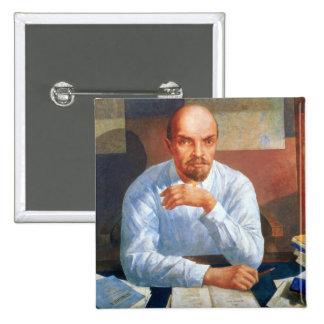Retrato de Vladimir Ilyich Lenin, 1934 Pin Cuadrado