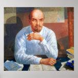 Retrato de Vladimir Ilyich Lenin, 1934 Poster