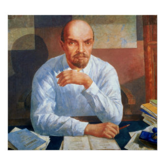 Retrato de Vladimir Ilyich Lenin, 1934 Póster