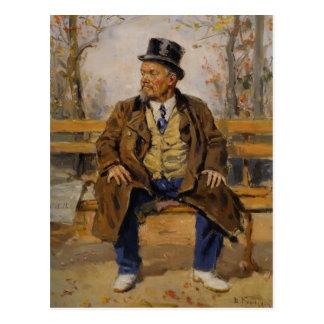 Retrato de Vladimir Makovsky- de una sentada del h Tarjetas Postales