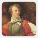 Retrato de Vladimir Samoylov como Hamlet Pegatina Cuadrada