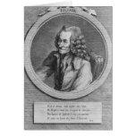 Retrato de Voltaire, de un dibujo Tarjeta De Felicitación