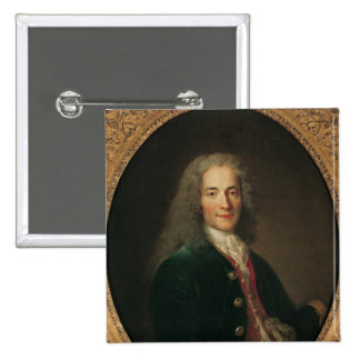 Retrato de Voltaire después de 1718 Pin Cuadrada 5 Cm
