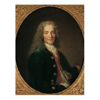 Retrato de Voltaire después de 1718 Postal