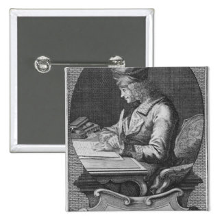 Retrato de Voltaire en Ferney Pin Cuadrada 5 Cm