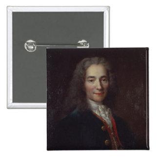 Retrato de Voltaire Pin Cuadrada 5 Cm