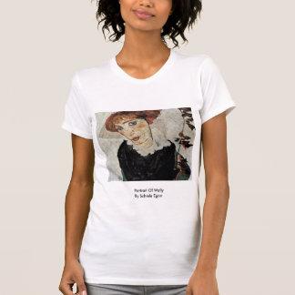 Retrato de Wally de Schiele Egon Tee Shirts