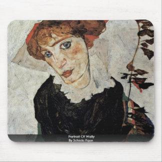 Retrato de Wally de Schiele Egon Alfombrilla De Raton