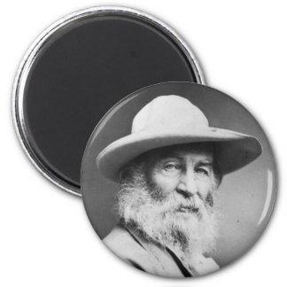 Retrato de Walt Whitman a.k.a. La foto del Quaker Imán Redondo 5 Cm