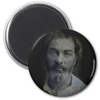 Retrato de Walt Whitman Colorized, edad 35 Imán Redondo 5 Cm