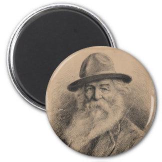 Retrato de Walt Whitman del poeta por la valeriana Imán Redondo 5 Cm