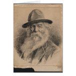 Retrato de Walt Whitman del poeta por la valeriana Tarjetón