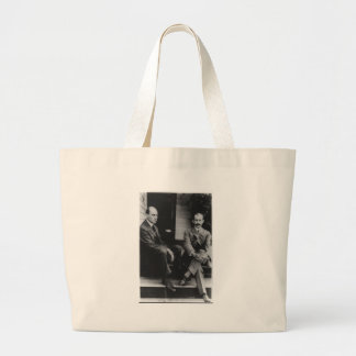 Retrato de Wilbur Wright y de Orville Wright Bolsa Tela Grande