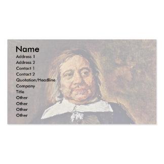 Retrato de Willem Croes de Hals Francisco Plantillas De Tarjetas De Visita