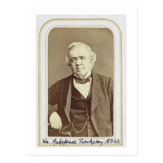 Retrato de William Makepeace Thackeray (1811-63) Postal