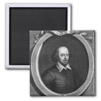Retrato de William Shakespeare 1719 Imán Cuadrado