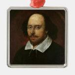 Retrato de William Shakespeare c.1610 Ornaments Para Arbol De Navidad
