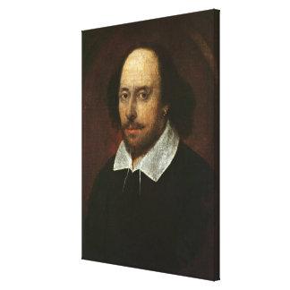 Retrato de William Shakespeare c.1610 Impresión En Tela