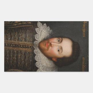 Retrato de William Shakespeare Cobbe circa 1610 Pegatina Rectangular
