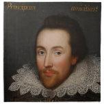 Retrato de William Shakespeare Cobbe circa 1610 Servilleta De Papel