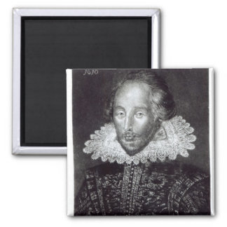 Retrato de William Shakespeare Imán Cuadrado