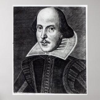 Retrato de William Shakespeare Poster