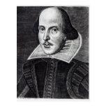 Retrato de William Shakespeare Postal