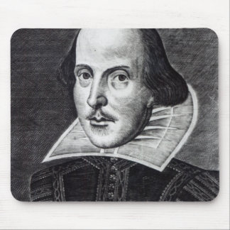 Retrato de William Shakespeare Tapetes De Raton
