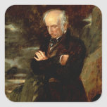 Retrato de William Wordsworth 1842 Calcomania Cuadradas