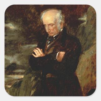 Retrato de William Wordsworth 1842 Pegatina Cuadrada