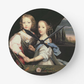 Retrato de Winston y de Arabella (1648-1730) Churc Reloj Redondo Mediano
