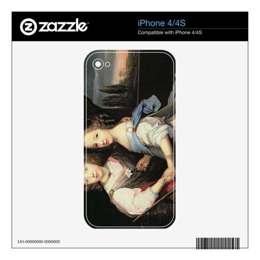 Retrato de Winston y de Arabella (1648-1730) Churc iPhone 4S Calcomanía