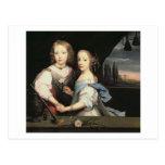 Retrato de Winston y de Arabella (1648-1730) Churc Postales