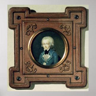 Retrato de Wolfgang Amadeus Mozart, 1773 Póster