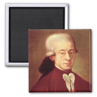 Retrato de Wolfgang Amadeus Mozart después de 1770 Iman De Nevera