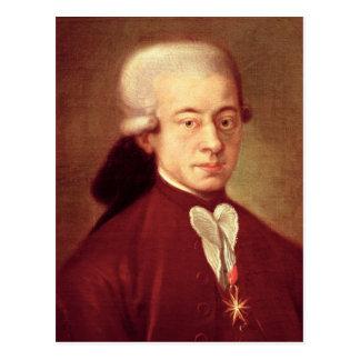 Retrato de Wolfgang Amadeus Mozart después de 1770 Postales