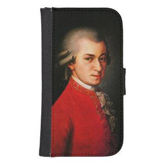 Retrato de Wolfgang Amadeus Mozart Fundas Billetera De Galaxy S4