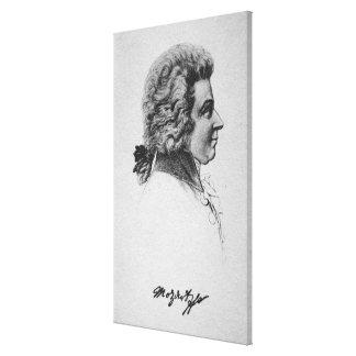 Retrato de Wolfgang Amadeus Mozart Impresiones En Lona Estiradas