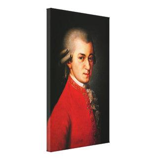 Retrato de Wolfgang Amadeus Mozart Impresion En Lona