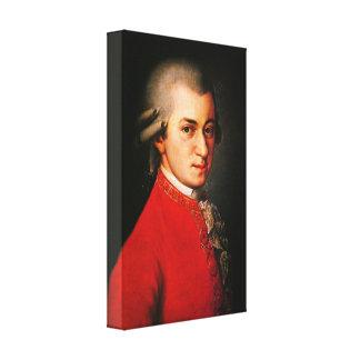 Retrato de Wolfgang Amadeus Mozart Impresión En Lona