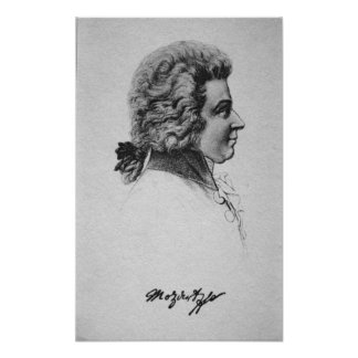 Retrato de Wolfgang Amadeus Mozart Poster
